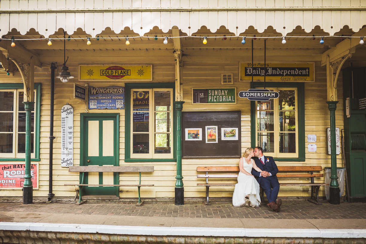 Wedding at Somersham station